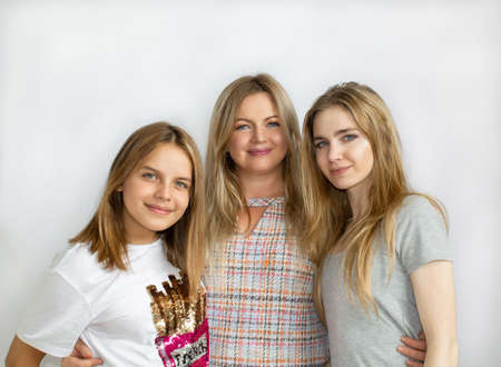 Group portrait of mother and daughters