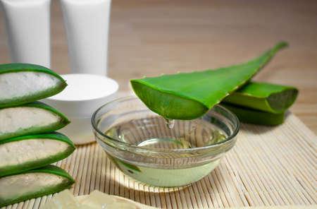 Aloe skincare sliced