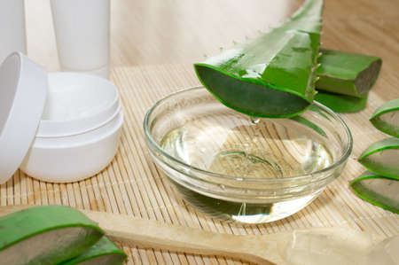 Aloe vera skincare kit Reklamní fotografie - 105043793