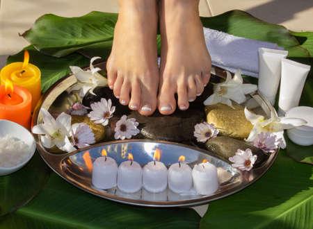 SPA for legs outdoors skin care Фото со стока