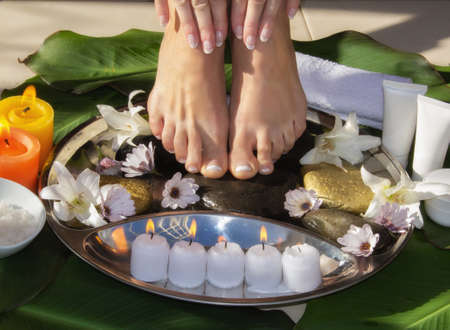 SPA for legs outdoors treatment
