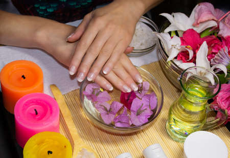 SPA for hands aromatherapy