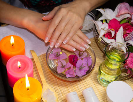 SPA for hands with candles