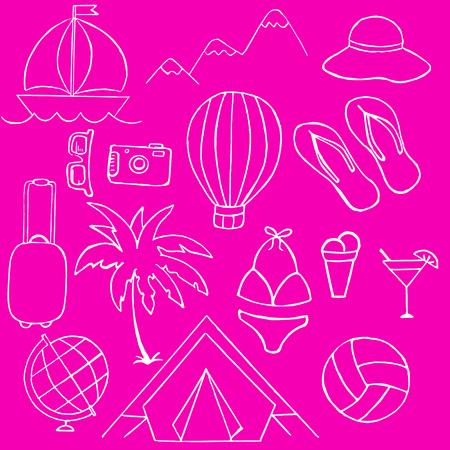 watermelon boat: Illustration vacation, travel, summer, vector illustration