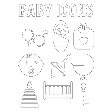 Perfect detailed baby icons made in vector Vectores