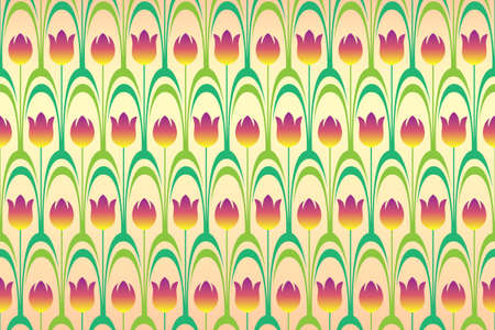 seamless background from flowering tulips