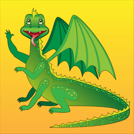 happy green dragon