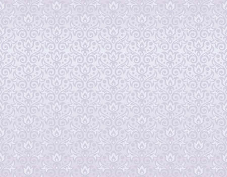 seamless pattern of pearl flowers and leaves