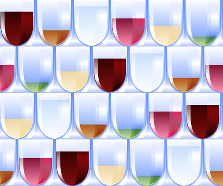 sommeliers: seamless pattern with glasses and drinks