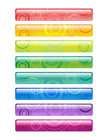 Bright decorative elements for your text, decorated with circles