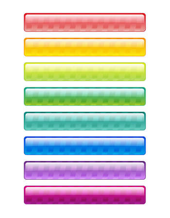 decorative striped elements bright colors of the spectrum of the base for your text Illustration
