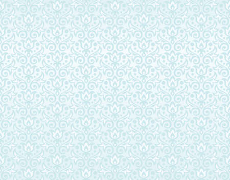 rasterized blue seamless pattern of silhouettes of flowers and leaves of tulips and dew drops