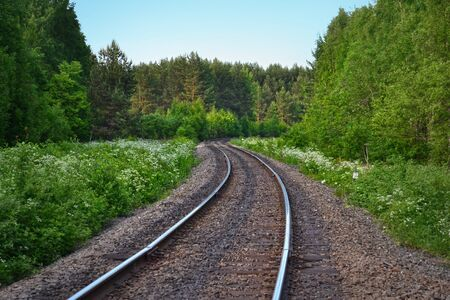 distance: Railway stretching into the distance