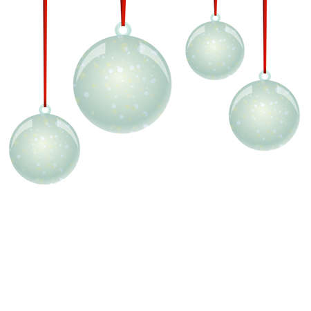 newyear: NewYear and Christmas decorative vector elements and background. Glass balls with snowflakes.