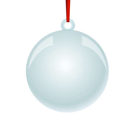 newyear: NewYear and Christmas decorative vector elements and background. Glass ball.