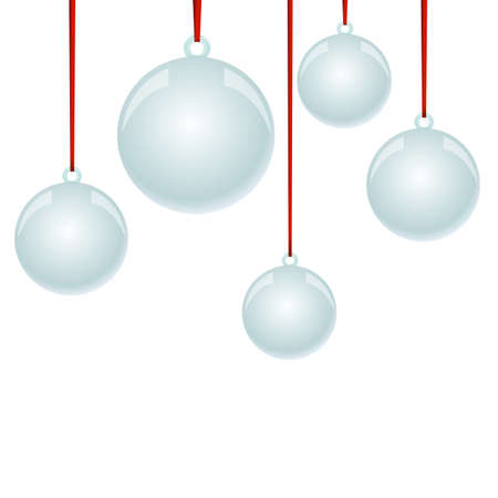 newyear: NewYear and Christmas decorative vector elements and background. Glass balls.