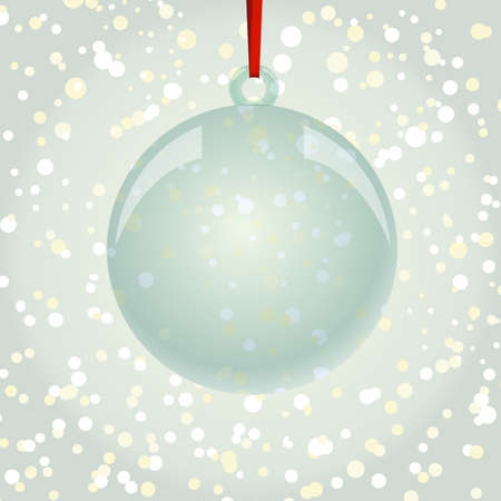 newyear: NewYear and Christmas decorative vector elements and background. Glass ball with snowflakes. Illustration