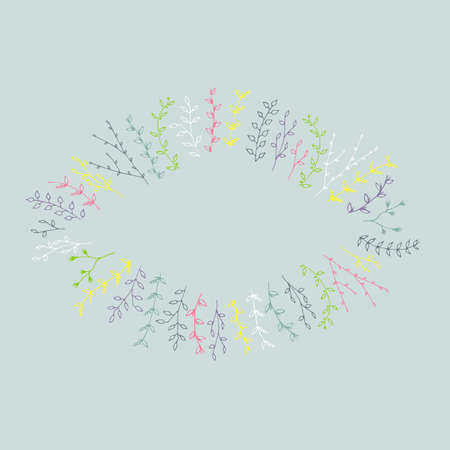 mariage: Hand-drawn branches graphic design elements set. Useful for wedding invitations, congratulations and greeting cards.