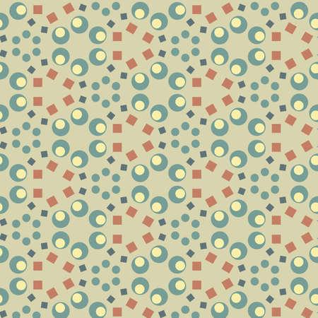 레트로 스타일의 형상 원활한 패턴 배경 벡터