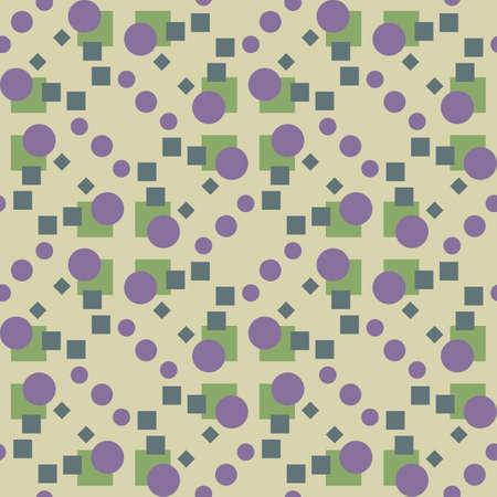 복고 스타일 기하학적 원활한 패턴 배경 벡터
