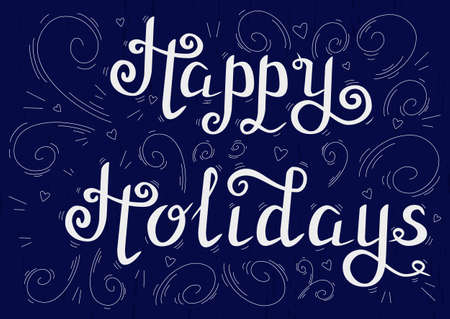holidays: happy holidays blue