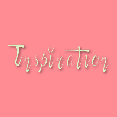 inspiration: Hand drawn lettering inspiration. Stock Photo