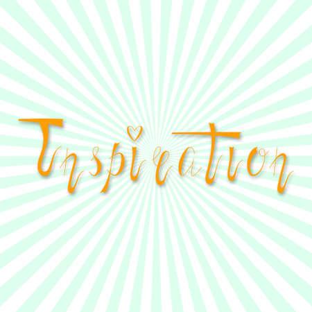 inspiration: Hand written retro lettering Inspiration Illustration