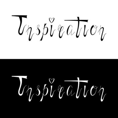 inspiration: Hand written retro lettering Inspiration Stock Photo