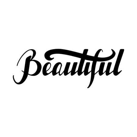 Hand drawn lettering Beautiful Illustration