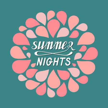 Hot summer nights Illustration