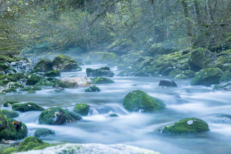 dampness: mountain river Stock Photo