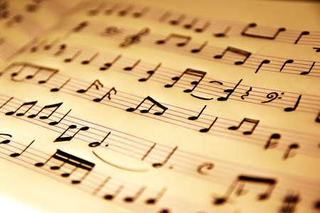 music pentagram: Note Archivio Fotografico