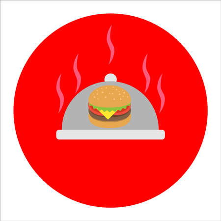 painted burger, great delicious sandwich, vector illustration