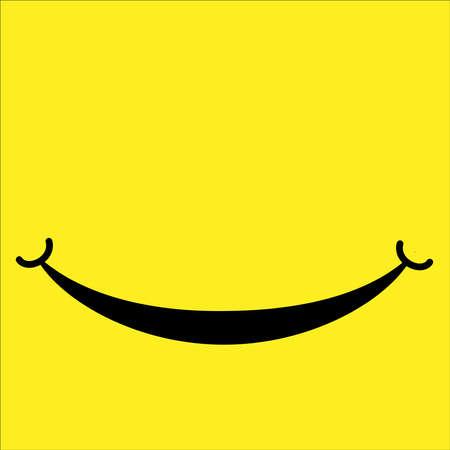 Smile icon isolated on white background. Vector illustration.