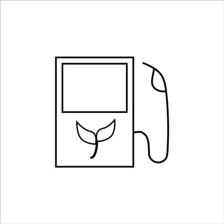 bio fuel thin line vector icon on white background