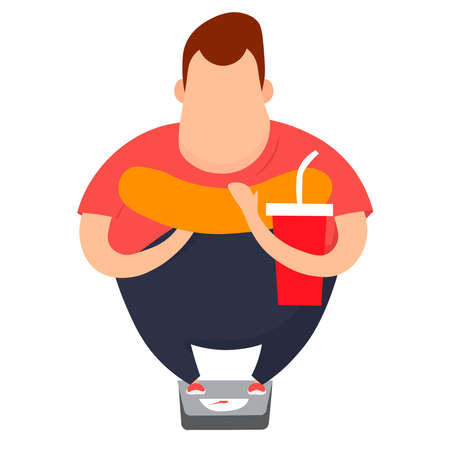 An overweight picture of a man.