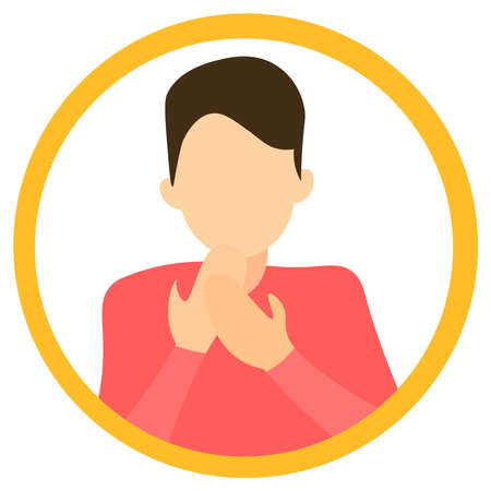 Logo of a woman with a sore throat. Ilustracja