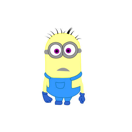 Minion picture on a white background.