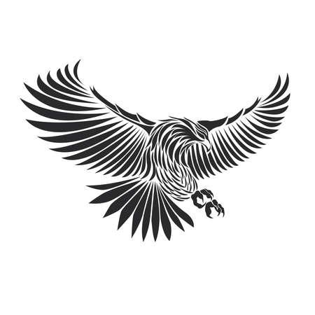 eagle icon illustration for tattoo isolate