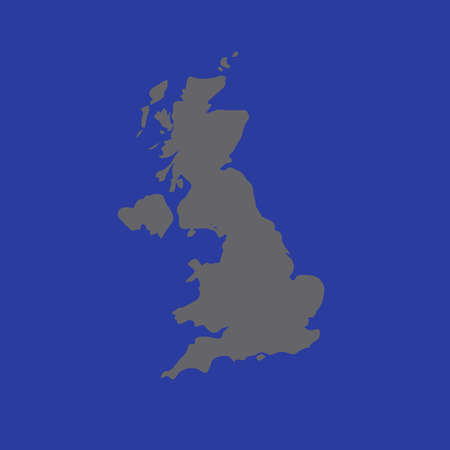 England map picture on blue background.