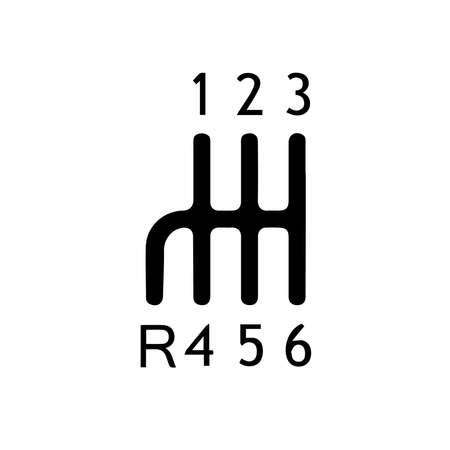 Transmission icon isolated on white background.