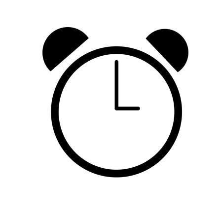 Alarm icon on a white background. Ilustração