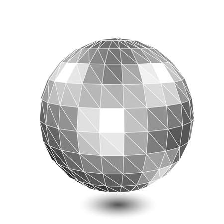 3d vector digital wireframe spherical objects. Vector
