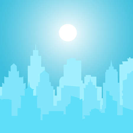 Picture of blurred city. Vector Illustration