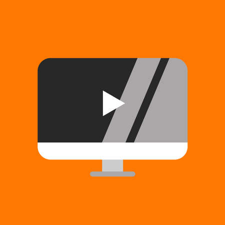 picture of computer monitor. Vector