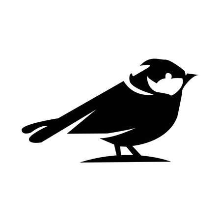 Bird icon on a background Vectores