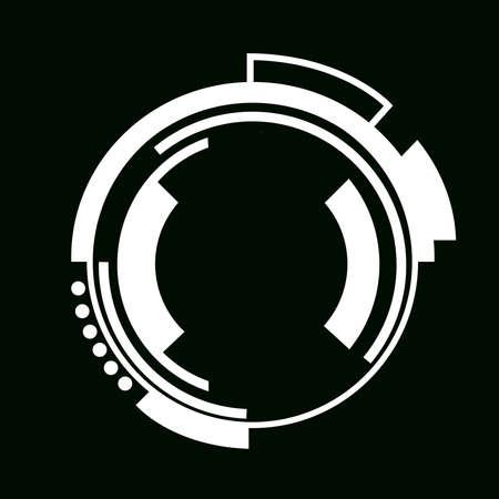 Robo eye icon. Robot target lock