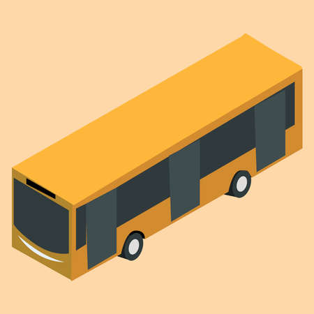 3D bus picture on background Illustration