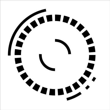 Robo eye icon. Robot target lock Illusztráció