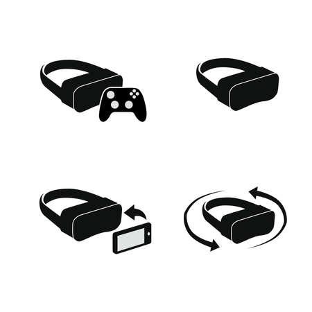 VR Helmets set. Vector illustration